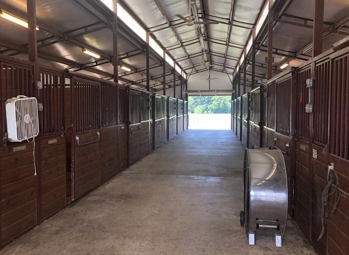 lancaster ranch inside stalls